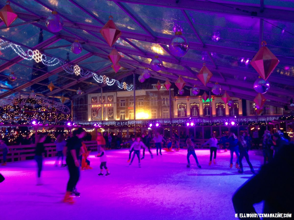 The indoor ice skating rink in the town square of Sittard. © Grant Ellwood