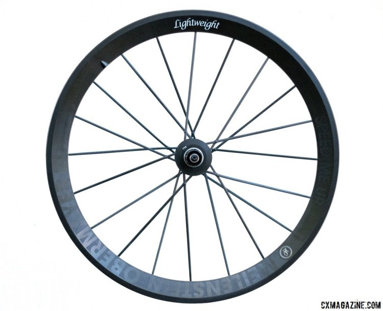 Lightweight Meilenstein Obermayer tubular wheels. 540g for the rear wheel, 960g for the pair. © Cyclocross Magazine