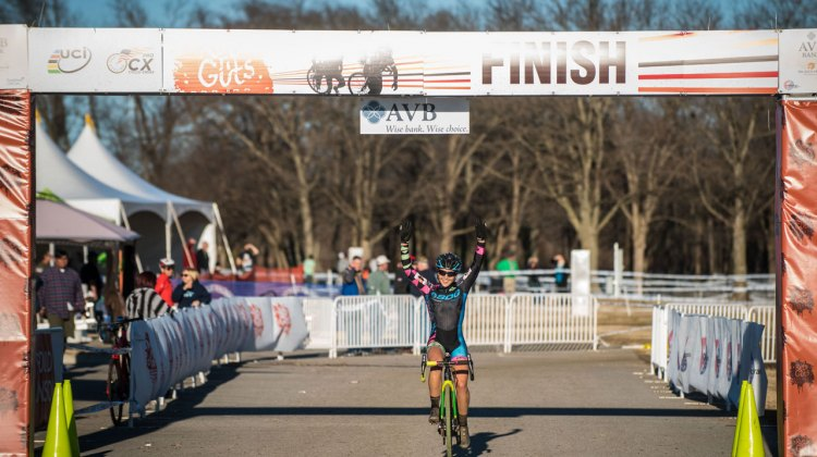 Amanda Nauman sweeps the Elite Women's race at Ruts 'n Guts with her day two victory. © Andy Chasteen