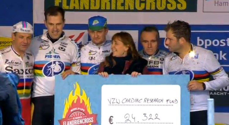 Niels Albert, Bart Wellens and a slew of former World Champions raised more than 24,000 Euro for young adults with heart failure.