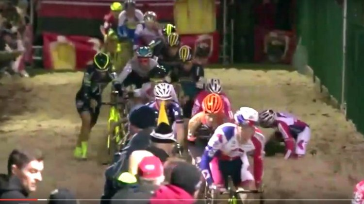 The 2015 Superprestige race in Diegem was a suspenseful, exciting battle with multiple lead changes. © Cyclocross Magazine