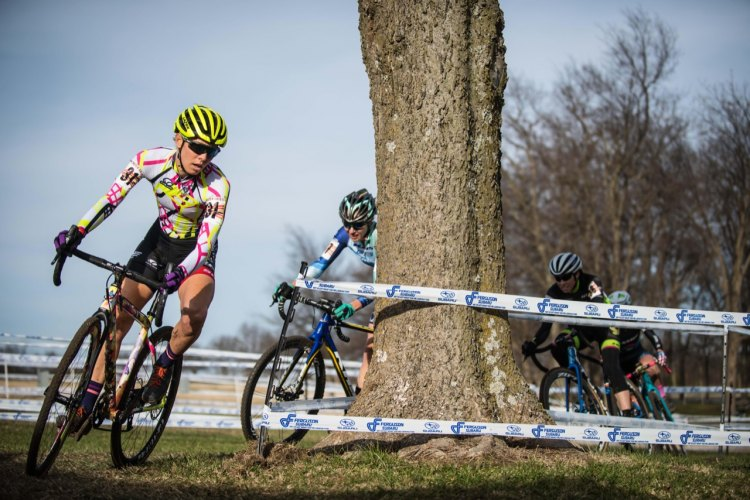 Emily Kachorek leads the chase group at Ruts 'n Guts. © Andy Chasteen