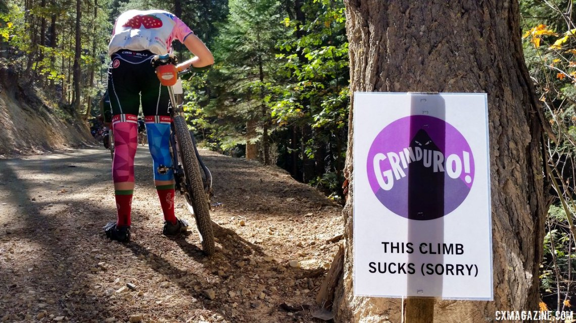 The 2015 Grinduro combined gravel, enduro racing, and a whole lot of suffering and scenery. We expect to see more of these types of events in the future. © Cyclocross Magazine