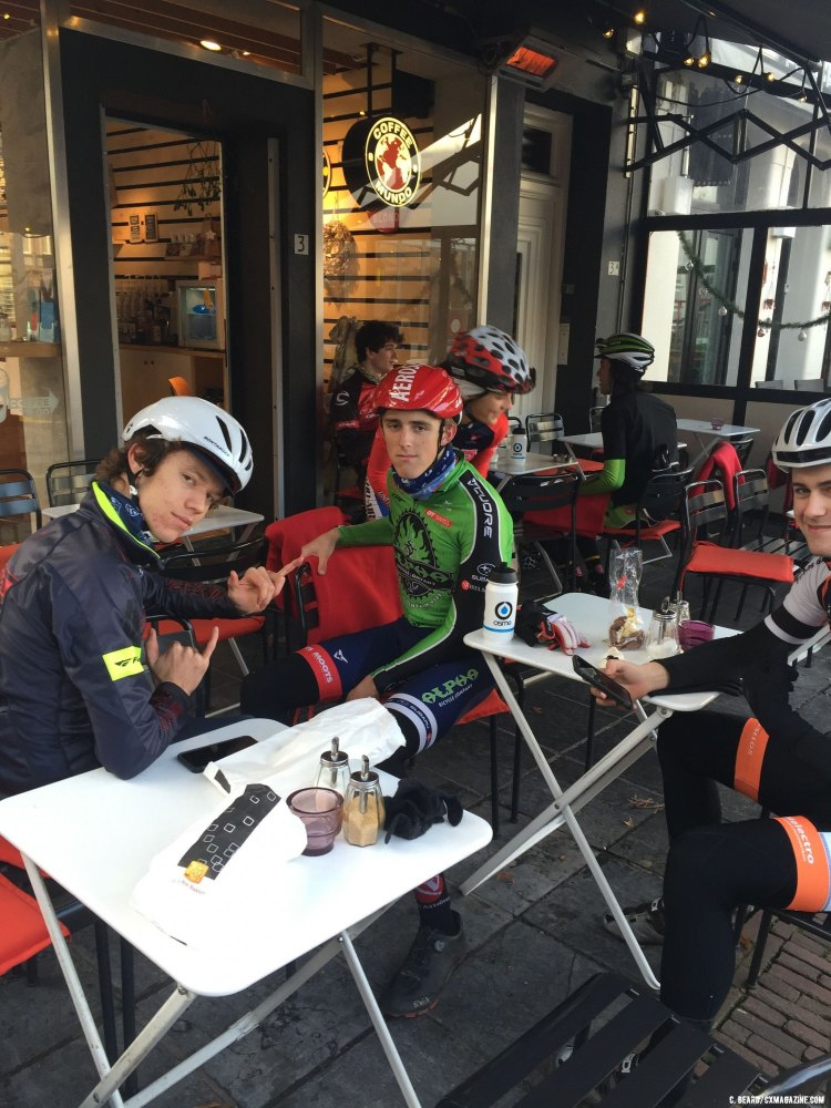 Recovery days mean 9-10 lattes on the coffe shop ride. © Cameron Beard