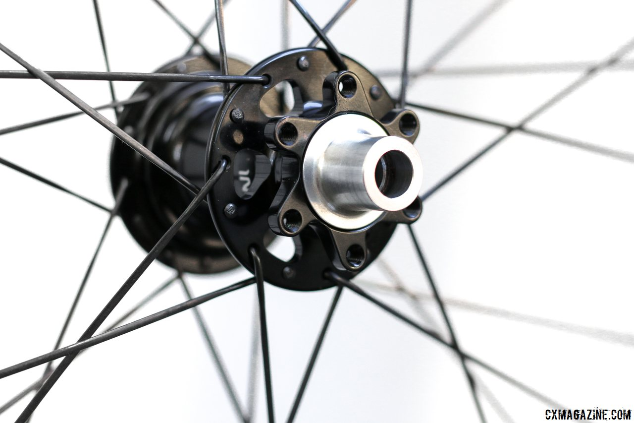 Industry Nine hubs use 6-bolt rotors and adapt to QR and