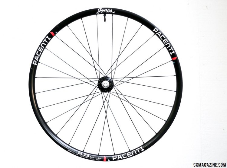 Our Jones Precision Wheels we received for testing use a Pacenti SL25 alloy tubeless rim, Industry Nine CX hubs, and DT Aerolite spokes. They retail for $1050. © Cyclocross Magazine