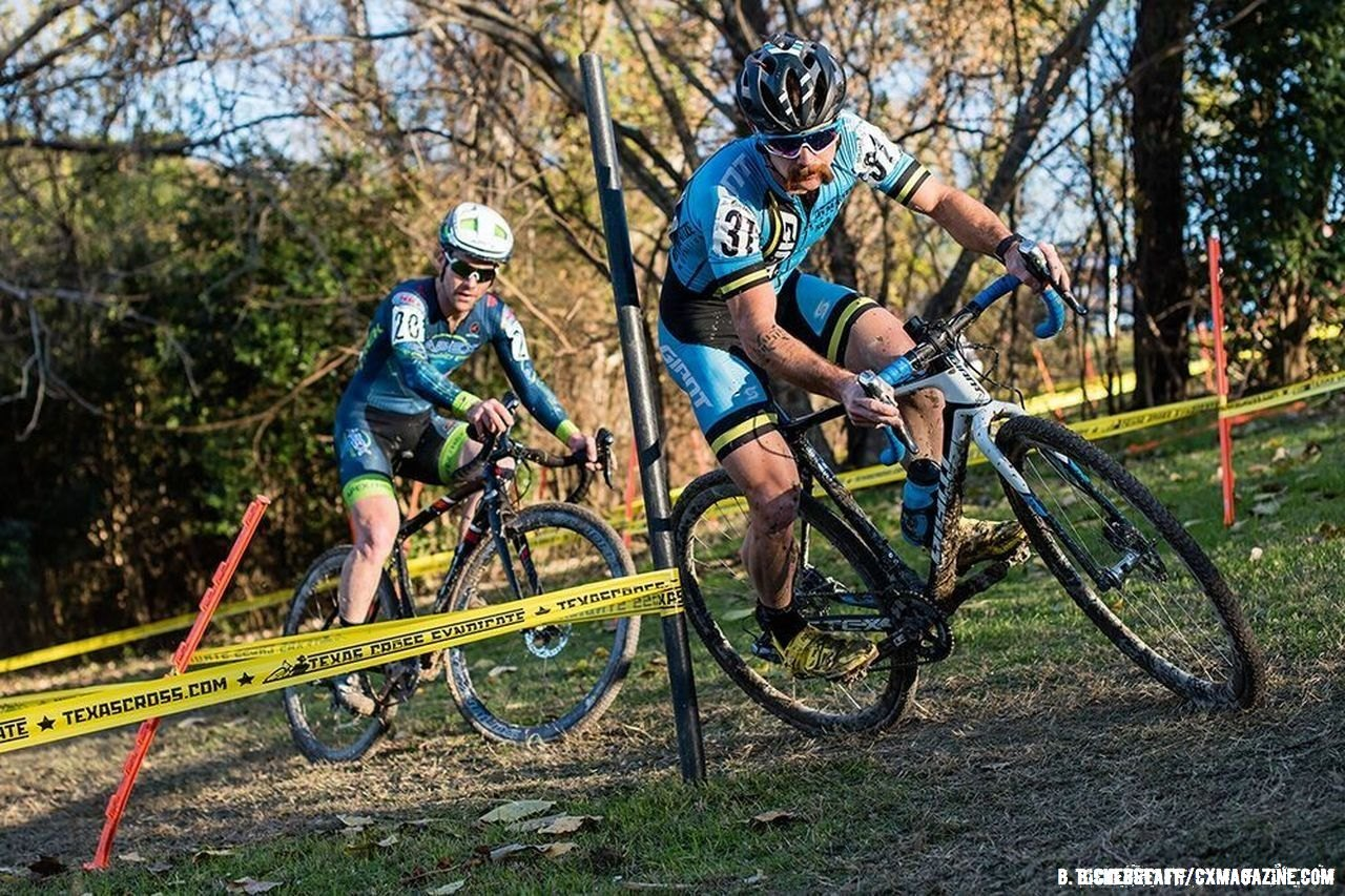 Local hero Tristan Uhl suffered untimely mechanicals at Highlander Cross Cup, day 1. ©  Bo Bickerstaff