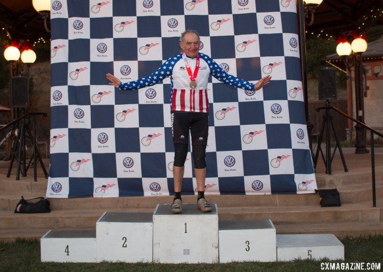 Marshall Gordon is your 2016 Masters Men 75-79 Cyclocross National Champion. © Cyclocross Magazine