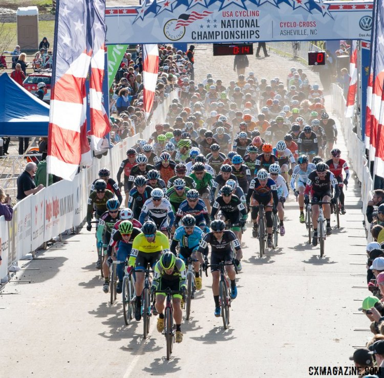 2016 Singlespeed Cyclocross National Championships - 152 Starters. © Cyclocross Magazine