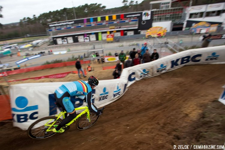 Sven Nys. Course inspection. 2016 Zolder World Championships. © D. Zelck / Cyclocross Magazine