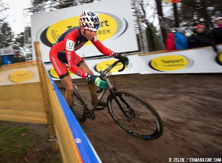 Gage Hecht on his way to 12th. © Danny Zelck / Cyclocross Magazine