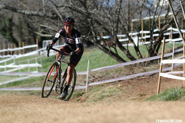 Tonya Bettis en route to the Masters Women 45-49 title at the 2016 Cyclocross National Championships. © Cyclocross Magazine