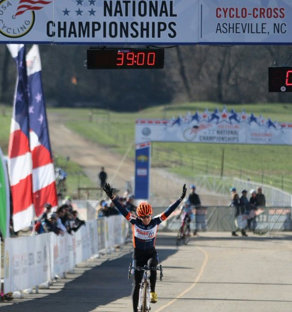 Corey Coogan Cisek takes the Masters Women 35-39 title, 2016 Cyclocross National Championships. © Cyclocross Magazine