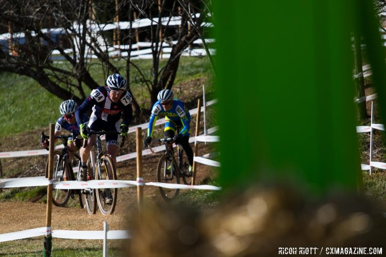 Randall Root leads out of the dip. © R. Riott / Cyclocross Magazine
