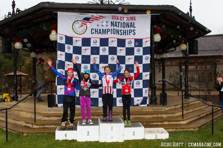 2016 USA Cycling Cyclocross Female Junior 11-12 National Championship Podium