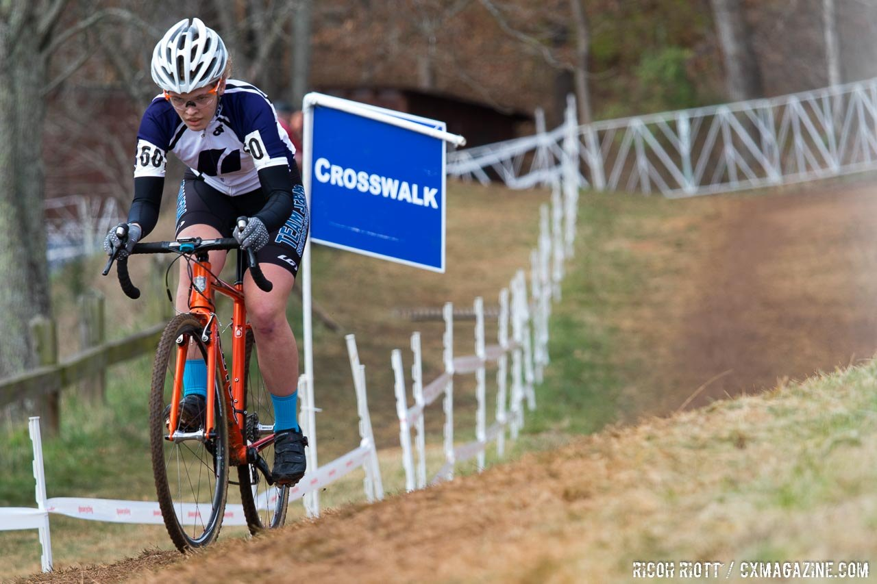 Honsinger won Collegiate Nationals in 2016. 2016 Cyclocross National Championships. © Cyclocross Magazine