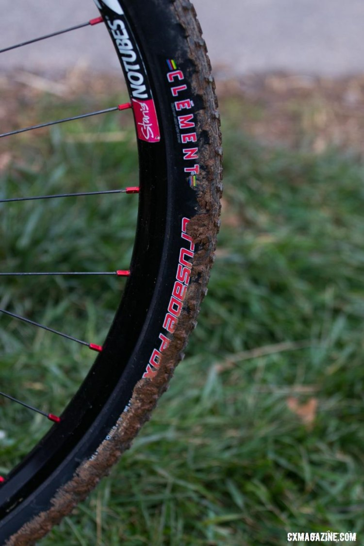 Haydn Hludzinski's Kinesis 29er rolled on Clement's Crusade PDX set up tubeless. © R. Riott/Cyclocross Magazine