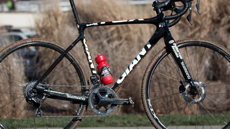 Victor Sheldon battled aboard this 2014 Giant TCX Advanced to a victory in the Masters 50-54 category at the 2016 USA Cyclocross National Championships. © Cyclocross Magazine