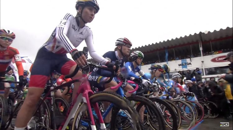 Elite Women about to start at the 2016 Cyclocross World Championships
