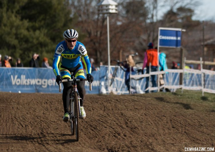 George Smith of Menlo Velo podiums with a silver for his newly-established team. © Cyclocross Magazine