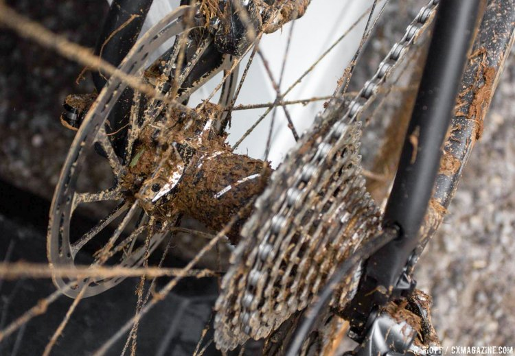 Mud found its way into every nook and cranny of Powers' Focus. © Cyclocross Magazine.