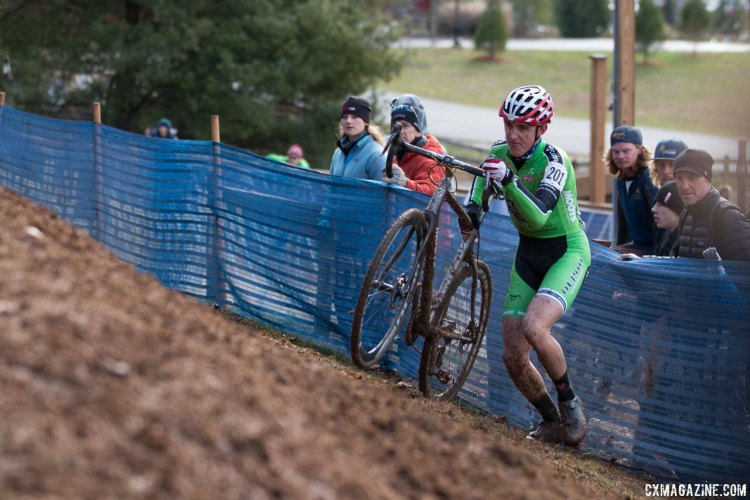 Gage Hecht kept it clean en route to the win in the Junior Men's race at 2016 Cyclocross National Championships. © Cyclocross Magazine