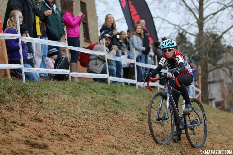 Junior Women 11-12, 2016 Cyclocross National Championships. © Cyclocross Magazine