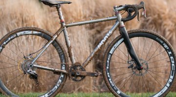 Katie Clouse's Moots Psychlo-X. 2016 Cyclocross National Championships. © Cyclocross Magazine
