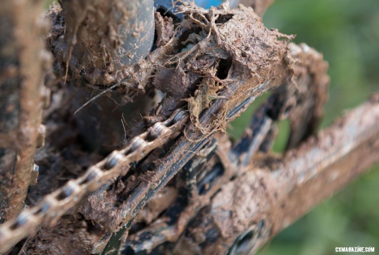 There's a chainguide under there somewhere. © Cyclocross Magazine