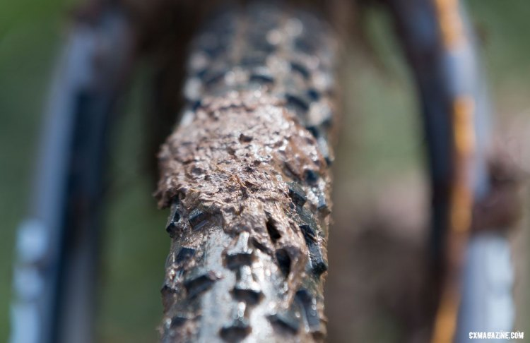 Katie Clouse's Moots Psychlo-X was wrapped in Clement's PDX. 2016 Cyclocross National Championships. © Cyclocross Magazine