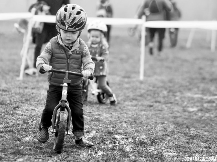 True cyclocross conditions for even the youngest. Kid Cross Race, 2016 Cyclocross National Championships. © Cyclocross Magazine