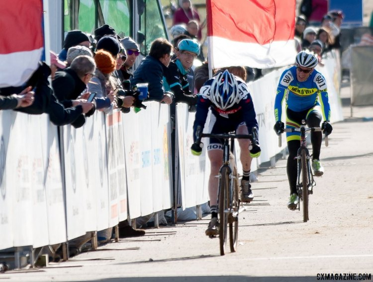 Root and Smith had the tightest battle of the day in the Masters 60-64. © Cyclocross Magazine