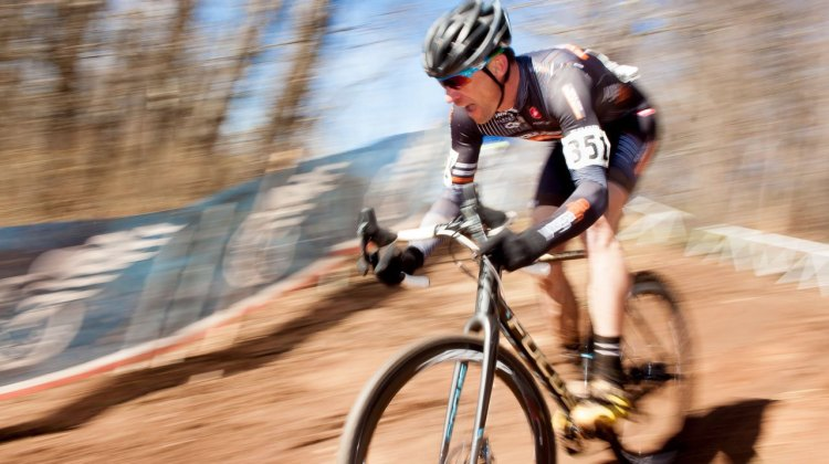 Pete Webber defended his Masters 45-49 title at the 2016 Cyclocross National Championship. © Cyclocross Magazine