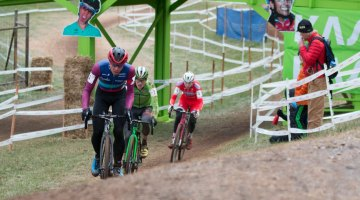 Powers, Hyde and Owen - in the same order as the finish. Elite Men, 2016 Cyclocross National Championships. © Cyclocross Magazine