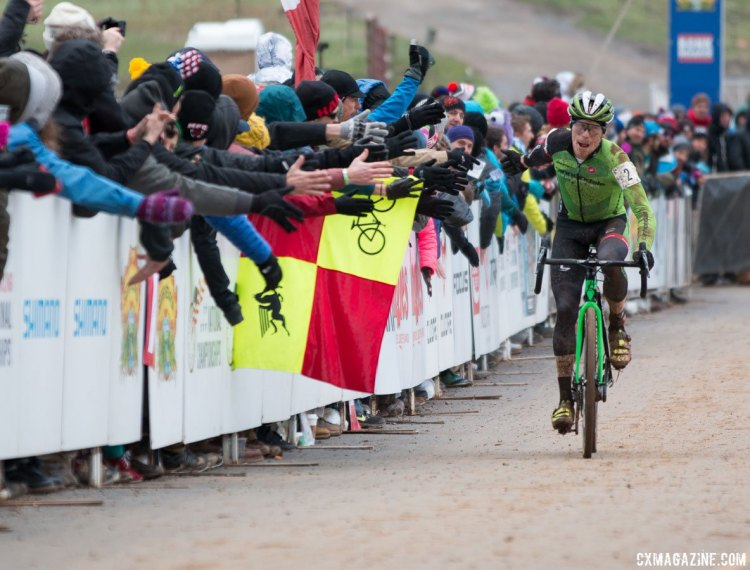 Stephen Hyde was the second-best American cyclocrosser this season, and confirmed it on Sunday. Elite Men, 2016 Cyclocross National Championships. © Cyclocross Magazine