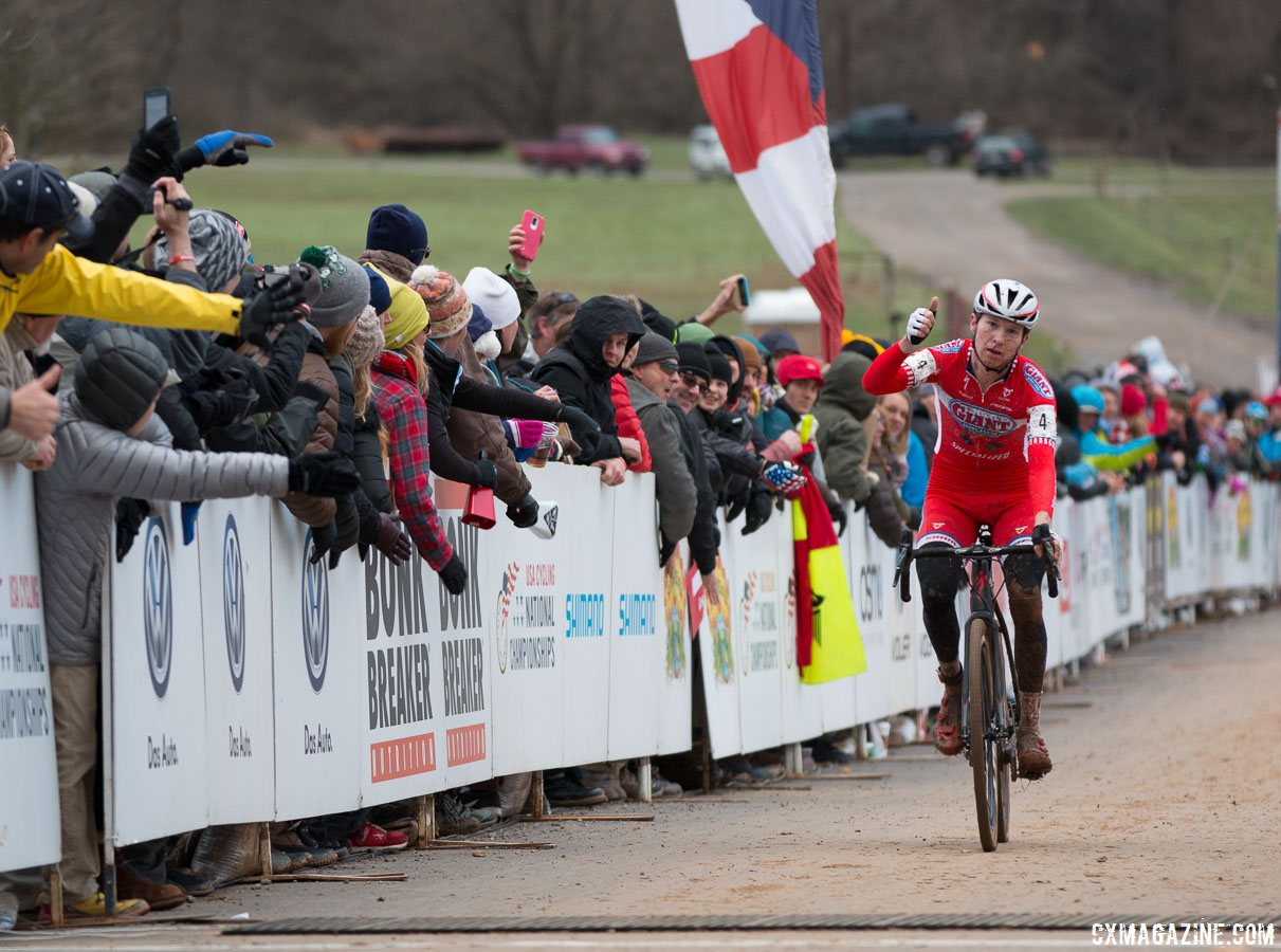 Owen finished third at the 2016 Elite Cyclocross Nationals. Elite Men, 2016 Cyclocross National Championships. © Cyclocross Magazine