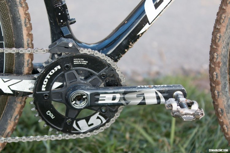 Uhl spun Rotor 3D road cranks mated to a Kogel bottom bracket. © Cyclocross Magazine