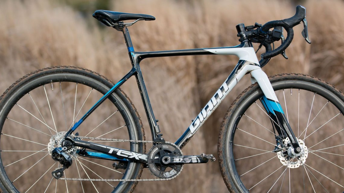 """When asked if he had made any modifications, Uhl said """"not really. It's the stock di2 build. I just unplugged the derailleur and took the cassette off."""" © Cyclocross Magazine"""