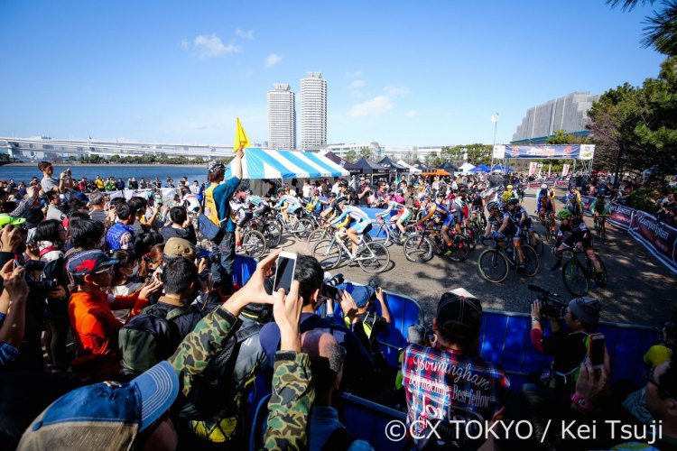 15,000 spectators for the Elite Men's race, just 30 minutes by train from Tokyo Station. © CX Tokyo / Kei Tsuji