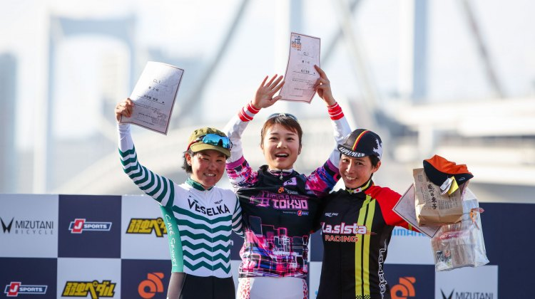 The Elite Women's podium. 2016 Cyclocross Toko © Kei Tsuji