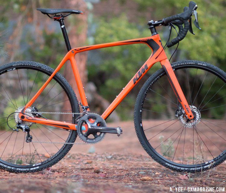 The bright orange, race-ready 2015 KTM Canic CXC cyclocross bike. © A. Yee / Cyclocross Magazine