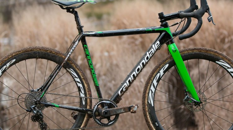 Stephen Hyde's Cannondale Super-X with Zipp 303 tubulars, SRAM Force 1, and Challenge Baby Limus tubulars. 2016 Cyclocross Nationals. © Cyclocross Magazine