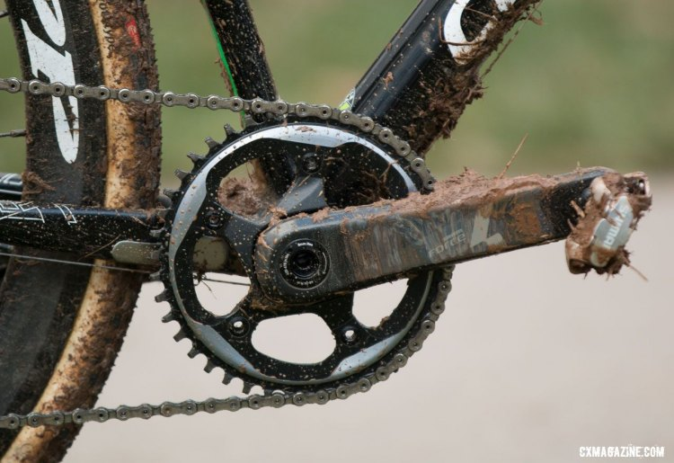 Stephen Hyde's Cannondale Super-X runs on SRAM's Force 1. 2016 Cyclocross Nationals. © Cyclocross Magazine