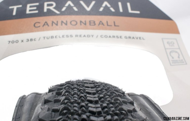 """Teravail's new gravel Canonball 38c tubeless gravel tire is likely the more exciting option for readers, with bigger volume for """"course gravel."""" © Cyclocross Magazine"""