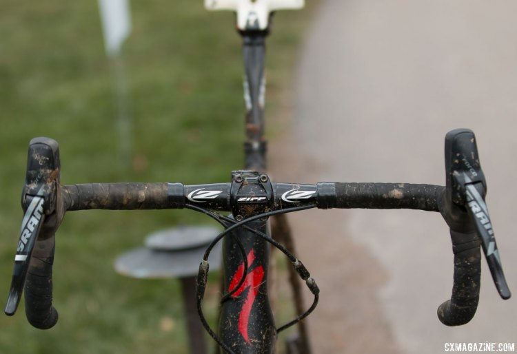 Oretenblad's bike features a cockpit from Zipp. © Cyclocross Magazine