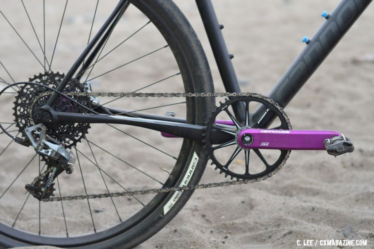 The demo model Slate seen here ran a primarily SRAM CX 1 kit. © Clifford Lee / Cyclocross Magazine