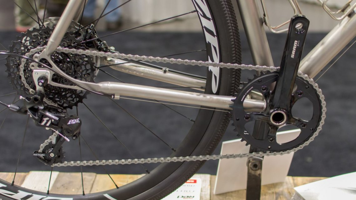 SRAM's new Apex 1 group. NAHBS 2016. © Clifford Lee / Cyclocross Magazine