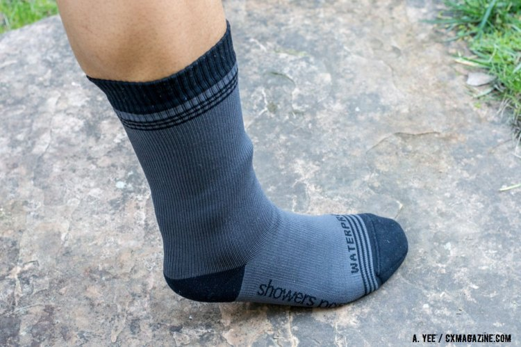 Showers Pass Crosspoint Waterproof Wool sock. © Cyclocross Magazine