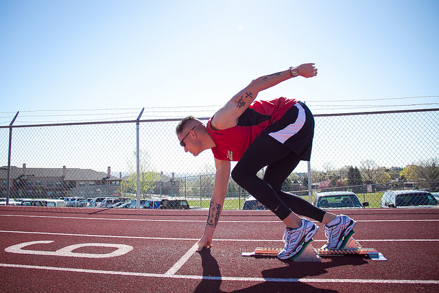 Does Ryan Trebon have a five minute mile in him? We'll all find out tonight. Photo: Wounded Warrior Regiment on flickr