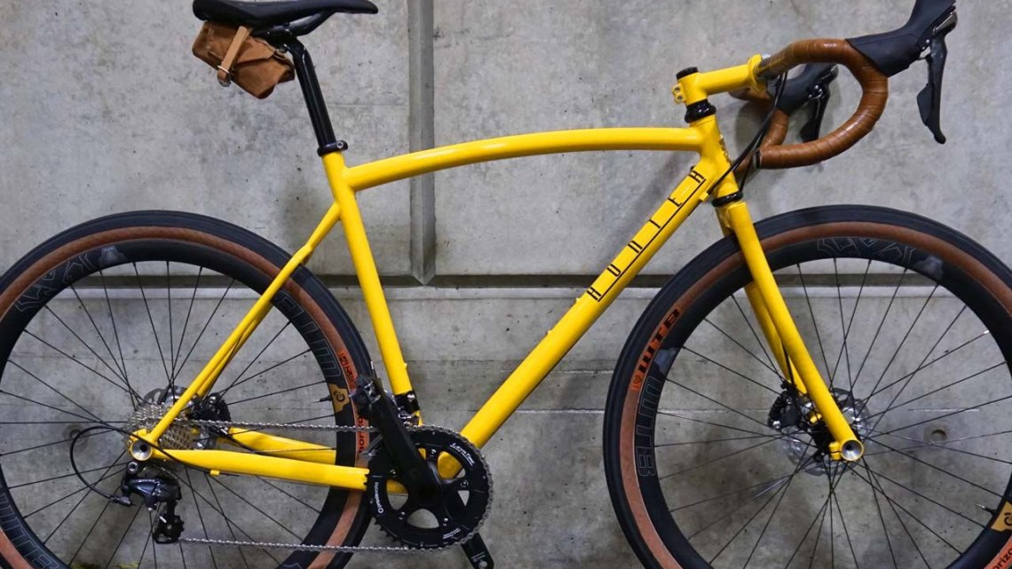 "Hunter Cycles' fillet brazed ""road plus"" bike was contender for the people's choice award at this year's NAHBS. © Cyclocross Magazine"